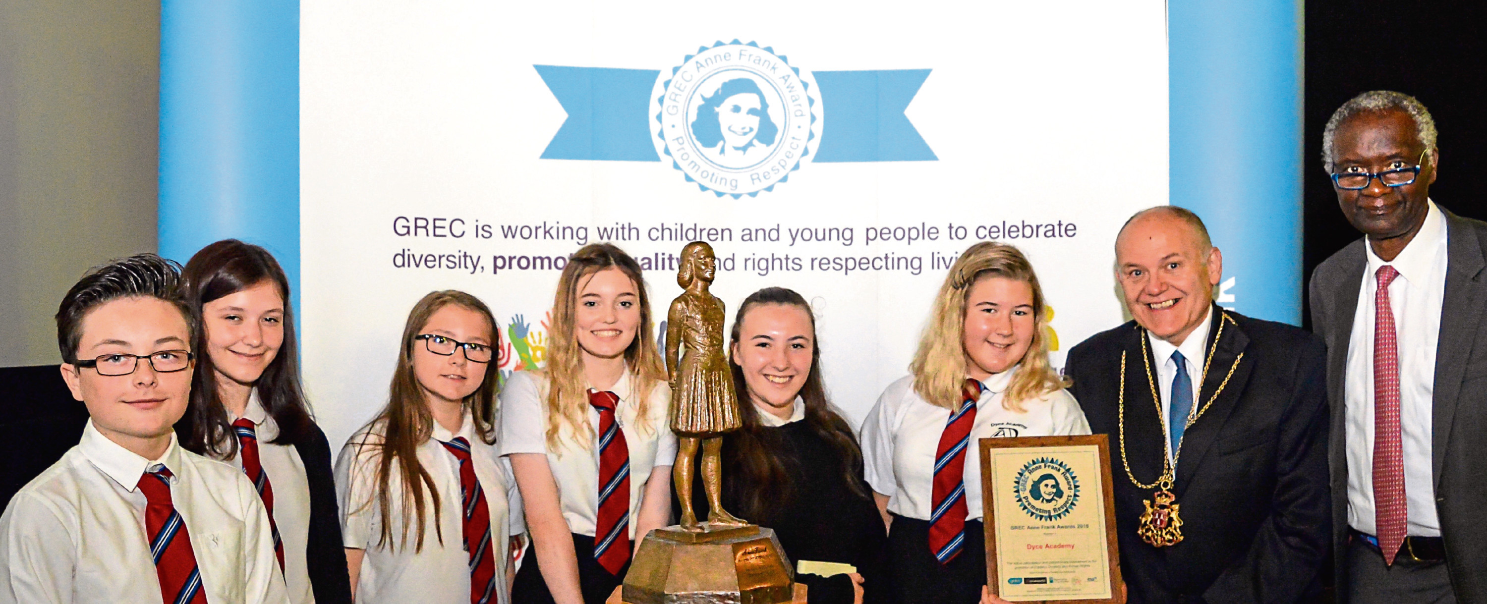 More than 100 pupils from across the north-east took part in an event dedicated to the memory of Anne Frank