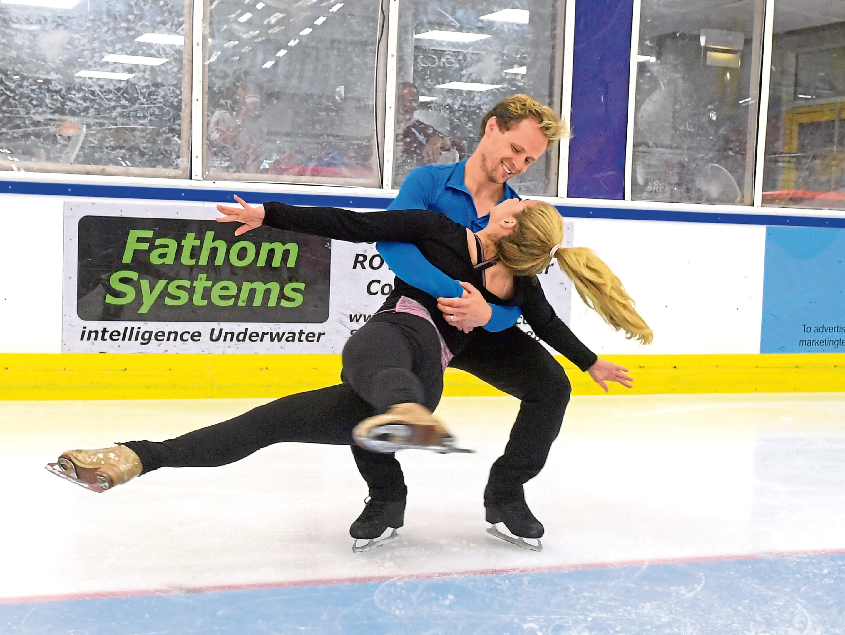 Linx Ice Arena. Dancing on Ice stars Alex Murphy and Mark Hanretty met with local skate/hockey club juniors for a 'summer skating spectacular'. 07/07/18. Picture by KATH FLANNERY
