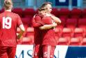 Aberdeen's Scott Wright celebrates after making it 2-1 vs St Johnstone
