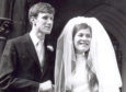 Dr Brenda Page on her wedding day with Dr Christopher Harrisson