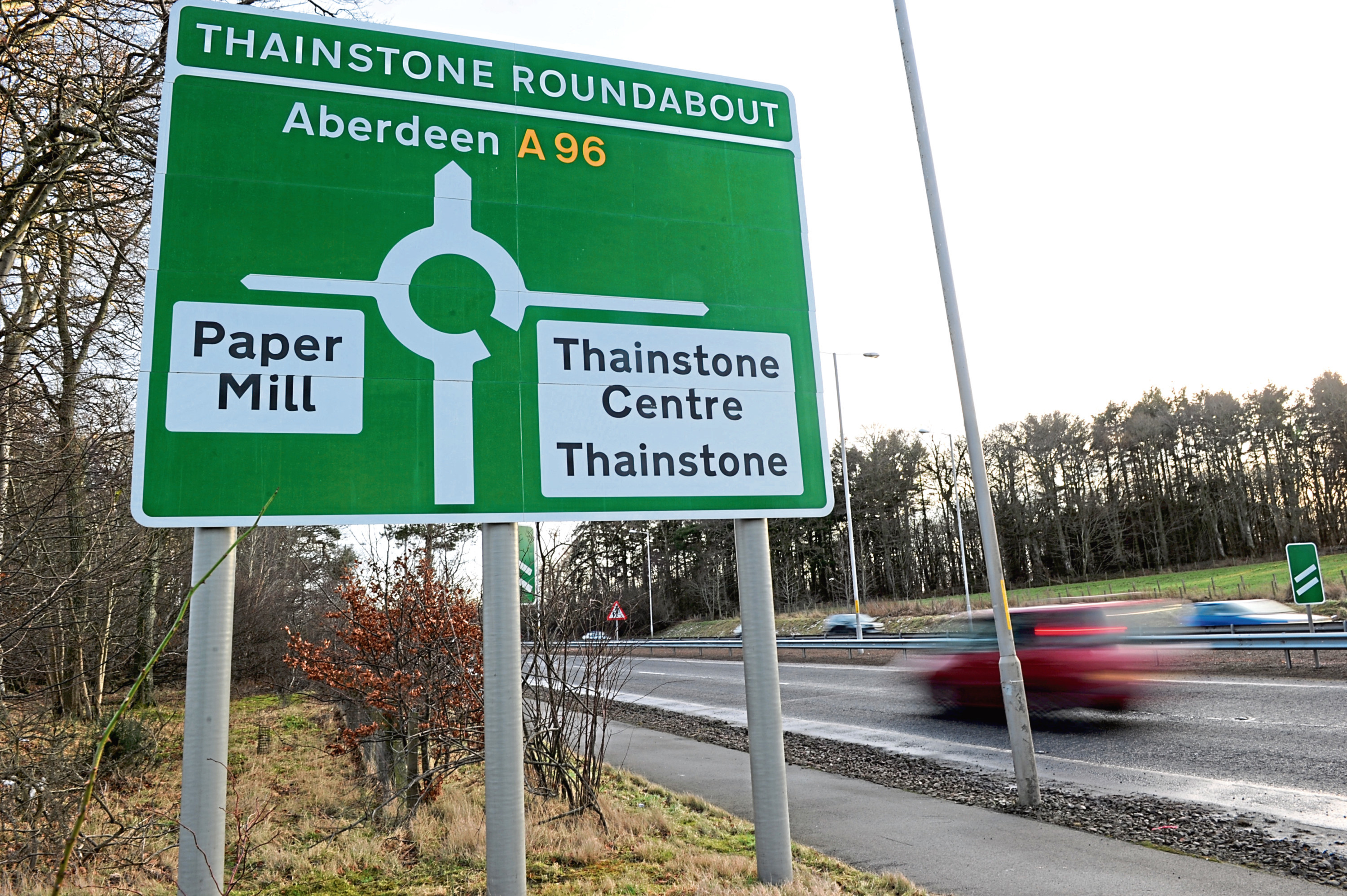 The commercial storage building could be built to the south-east of Thainstone Roundabout