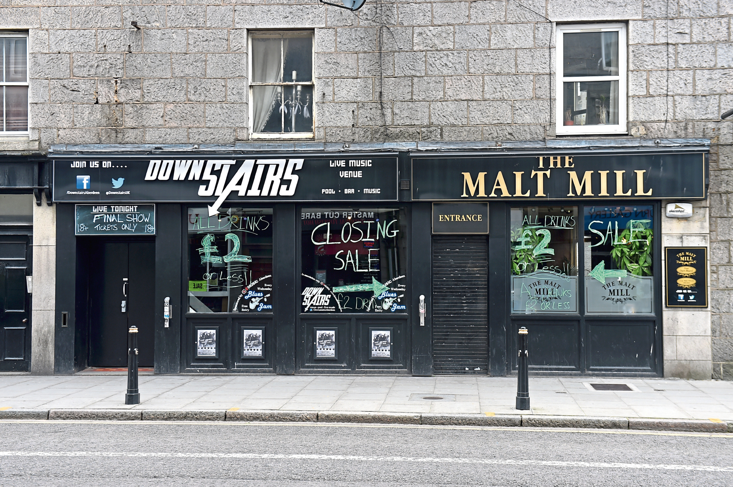 Pictured is a locator of The Malt Mill and Downstairs Bar on Holburn Street, Aberdeen.  Picture by Darrell Benns  Picture taken 18/08/2016