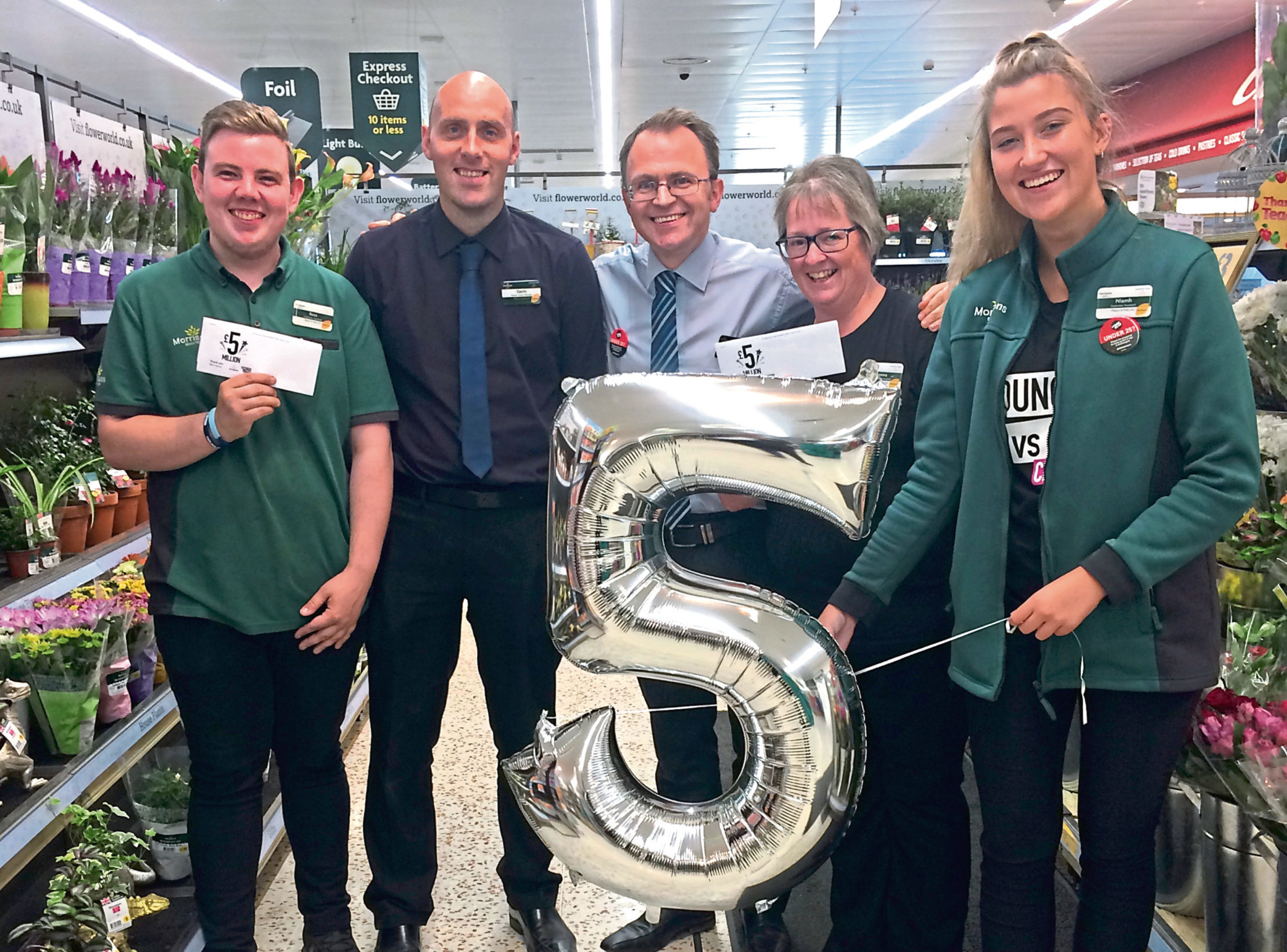 Staff  from Morrisons in Peterhead have helped raise £5 million for CLIC Sargent