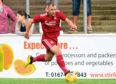 Niall McGinn in action for Aberdeen