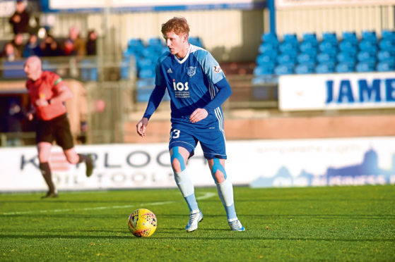 Peterhead's Willie Gibson. Picture by Darrell Benns