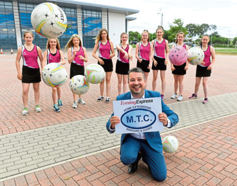 Ellon Netball Club are this month's winners of the MTC £250 prize