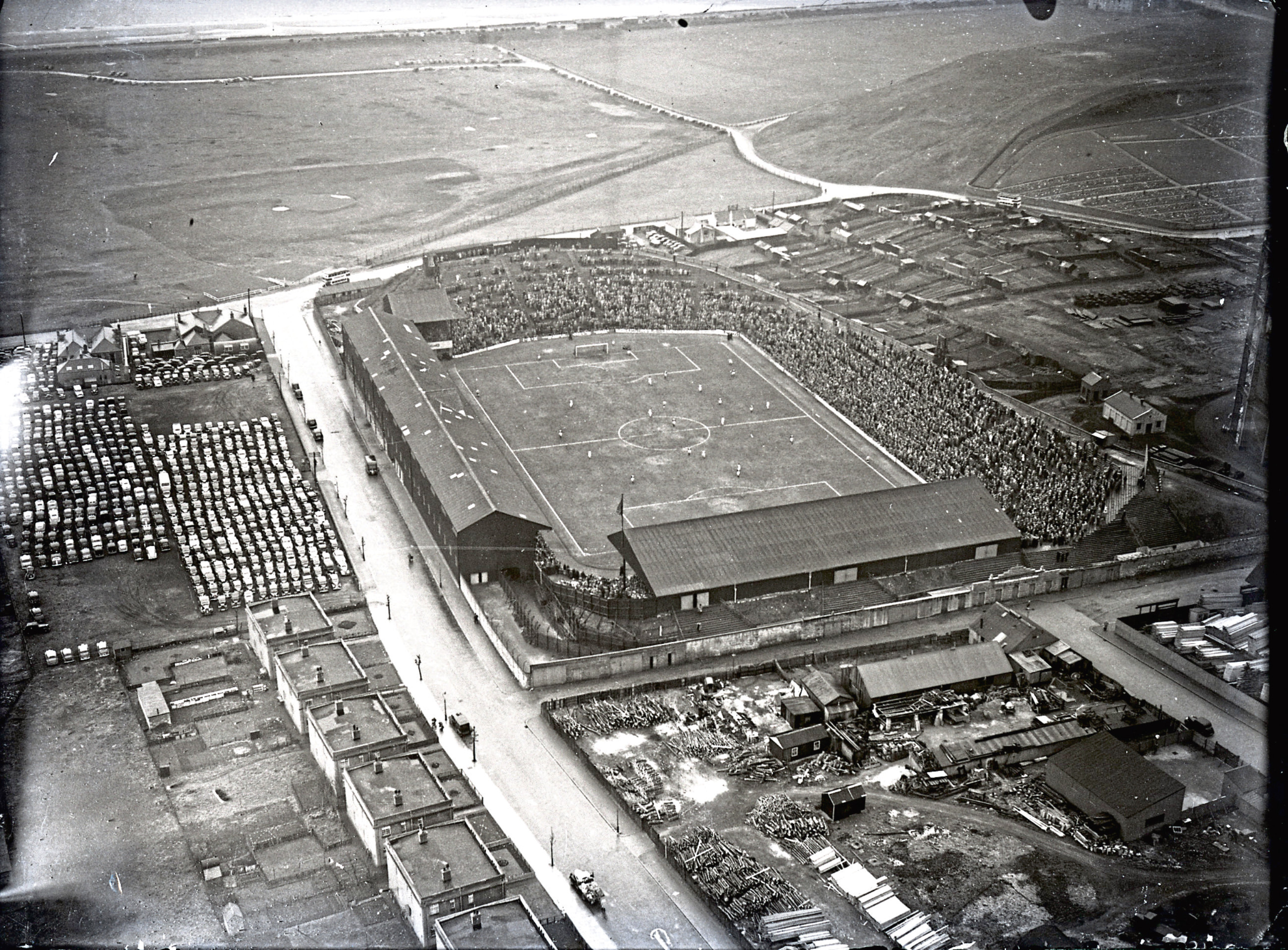 Pittodrie Stadium in the 1950s