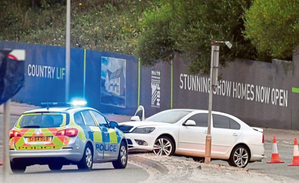 The alleged incident on Old Meldrum Road in Bucksburn involved a white Skoda Octavia