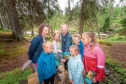 The Mar Lodge path is popular with walker and families
