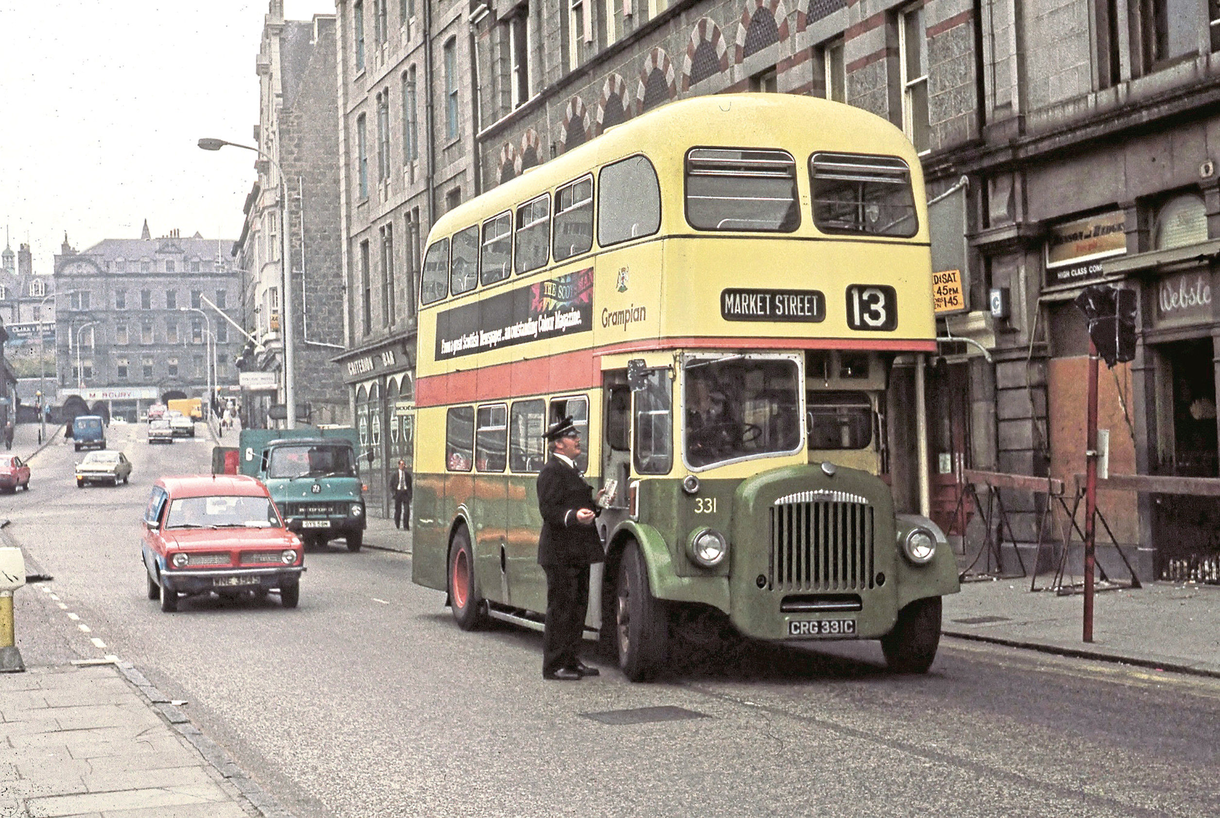 Bus drivers could expect to be kept on their toes at any point along their route. This is one of the many images in the book