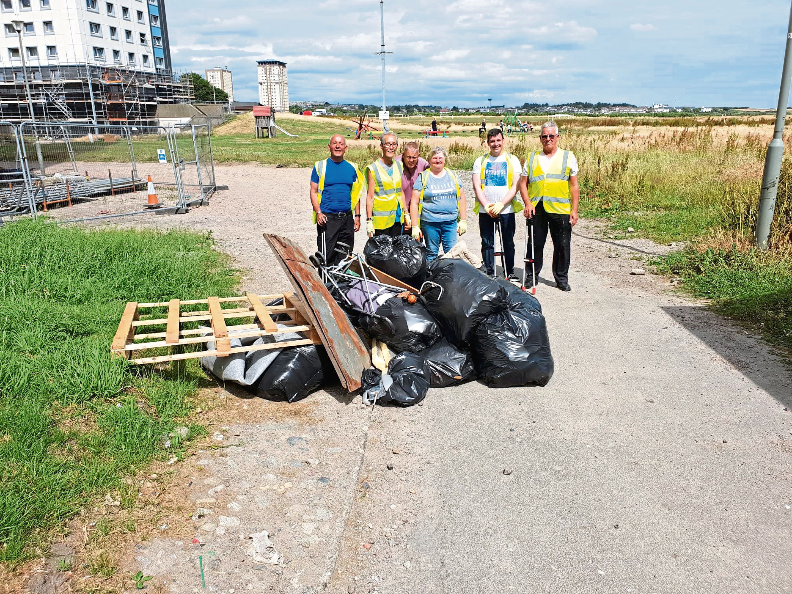The residents organised the first clean-up of the area and gathered more than 20 bags of rubbish