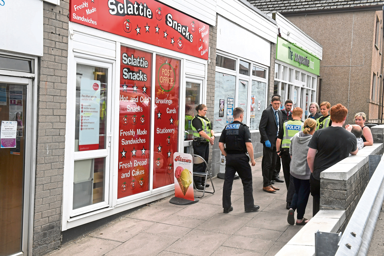 Sclattie Park Post Office in Bucksburn scene of an alleged attempted robbery