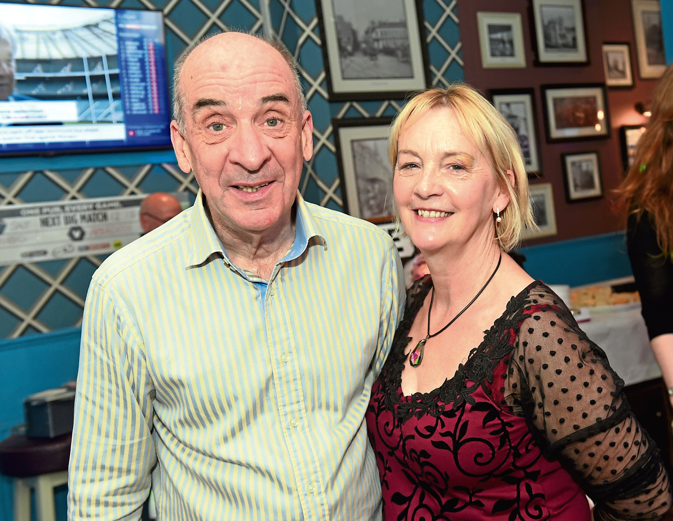The Foundry is holding a dementia friendly disco- it is believed to be the first of its kind in Scotland.  Pictured are Bill and Anne Duncan.  21/04/17  Picture by HEATHER FOWLIE