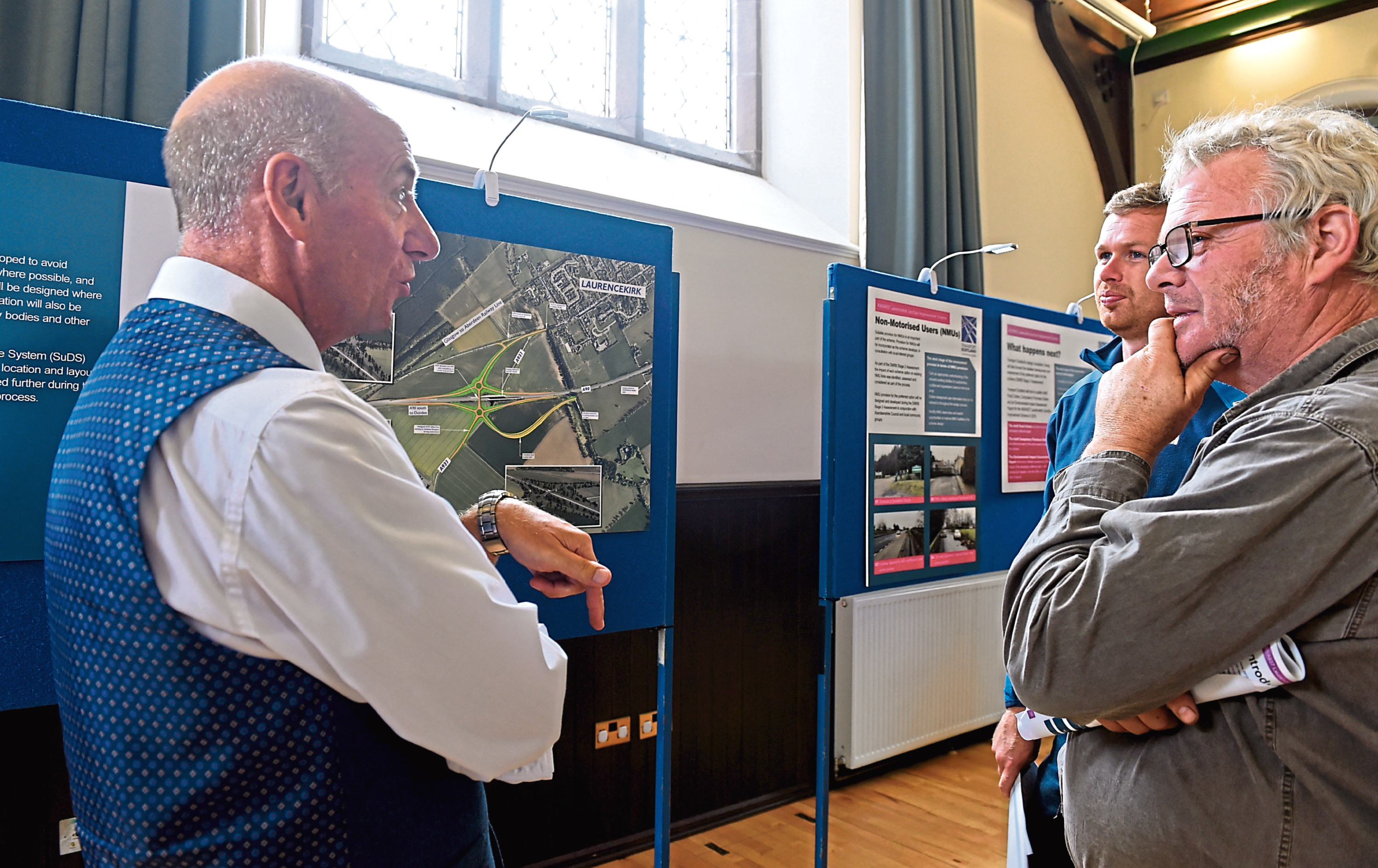 Questions on the Laurencekirk flyover are answered.