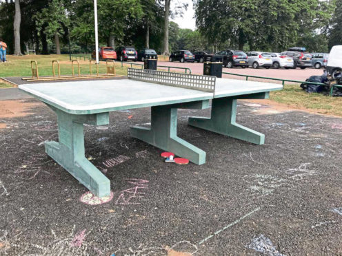 Table tennis is now on offer at Aberdeen's Seaton Park