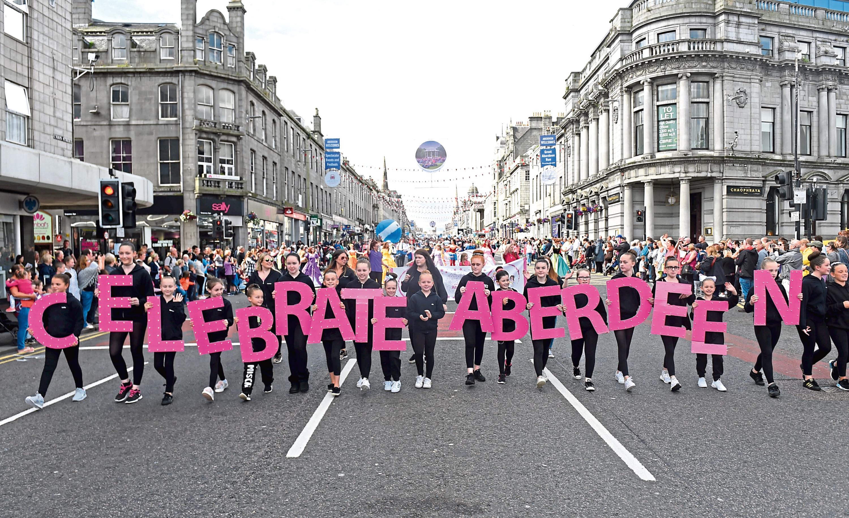 A previous Celebrate Aberdeen parade