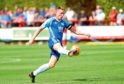Peterhead captain Rory McAllister in action