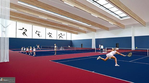 An artist impression of the Garioch Sports Centre