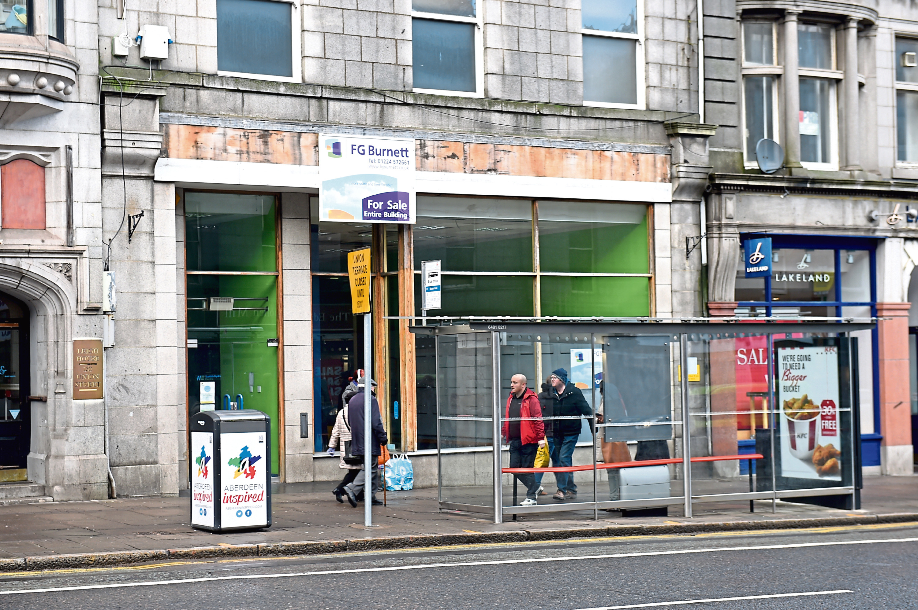 Shop closures in Aberdeen are below the national average