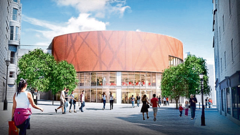 An artist's impression of the revamp