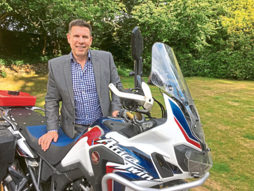 Robin Parkinson who will be doing a lap of Britain on his motorbike
