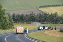 The A96 was closed today as crash investigators examined the scene