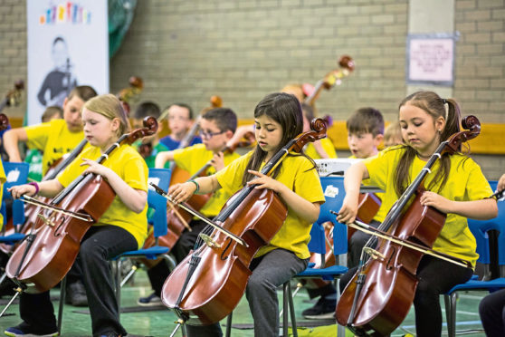 Youngsters hit the right notes as part of the Big Noise Torry scheme