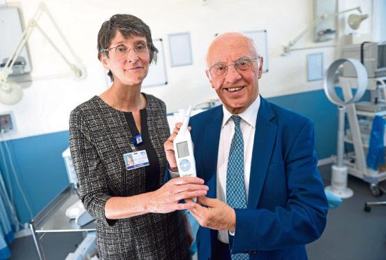 Professor Maggie Cruickshank and Willie Henderson