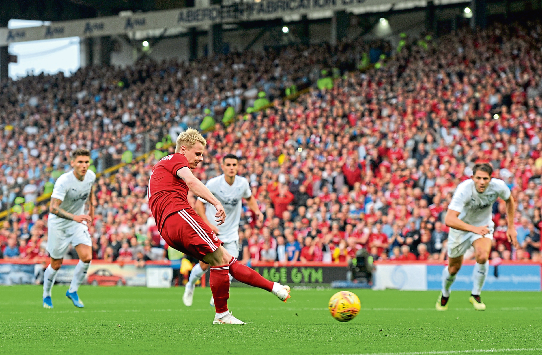 Gary Mackay-Steven has stepped up as penalty taker in the early season