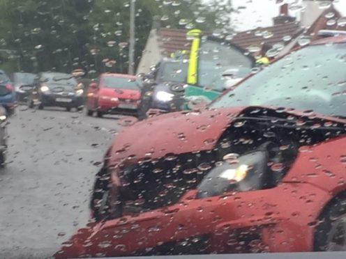 Crash on North Deeside Road