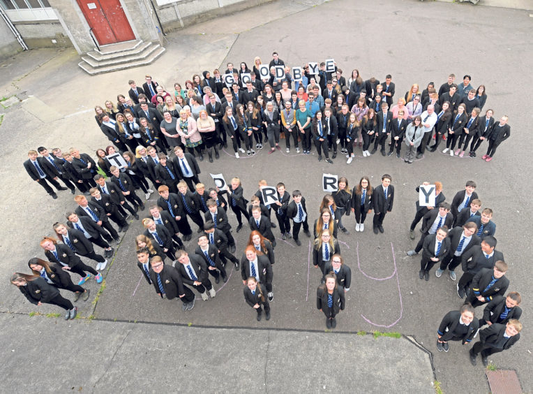 Torry Academy pupils get set to say goodbye to their school and move to the new Lochside Academy along with Kincorth Academy pupils