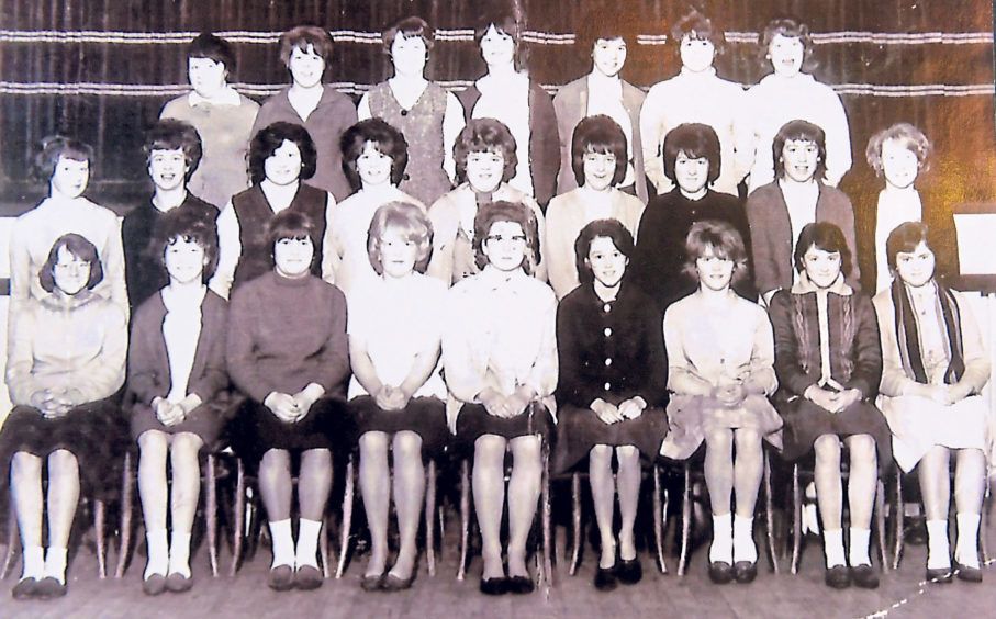 Some of the girl pupils of Torry Secondary School in 1964