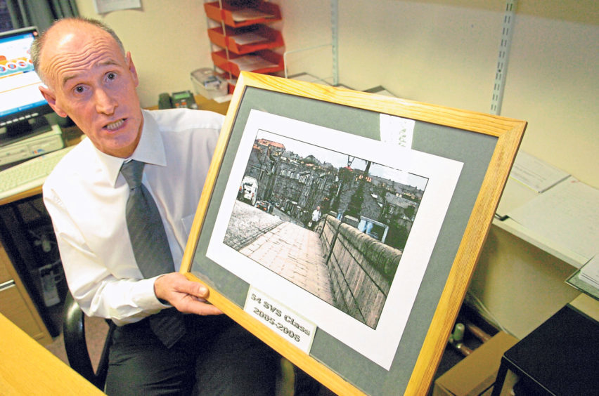 Deputy head Jim McKay retires from Torry Academy after 29 years in 2005