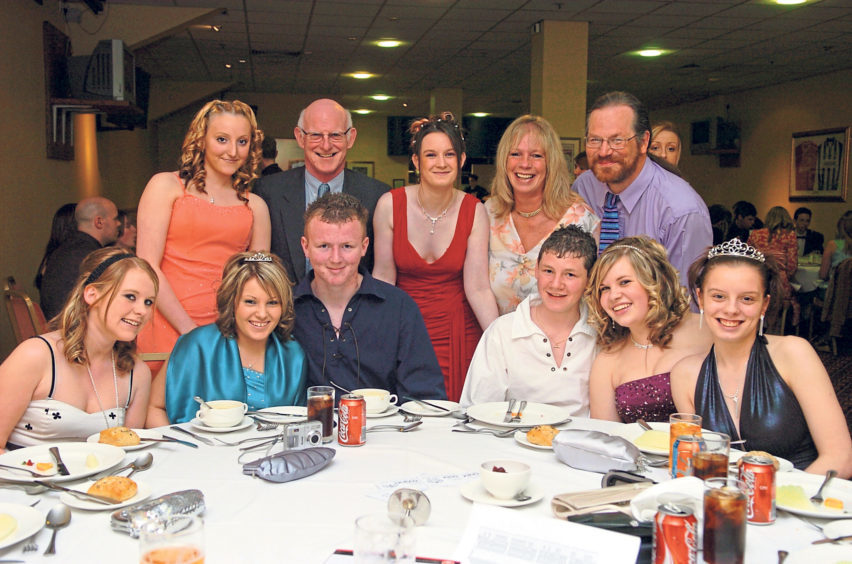 The school prom at Pittodrie in 2007