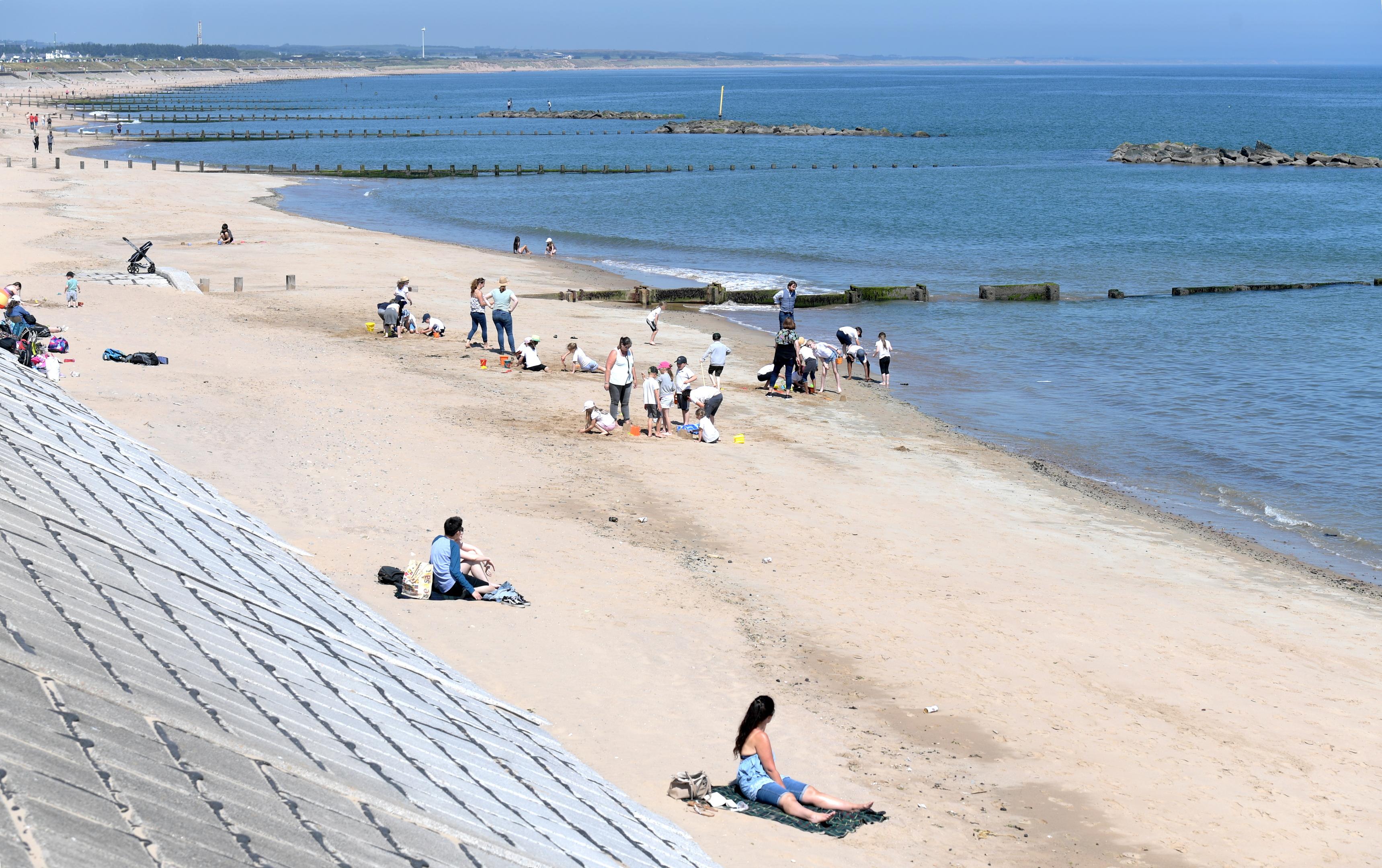People enjoyed the sunshine at Aberdeen beach last week