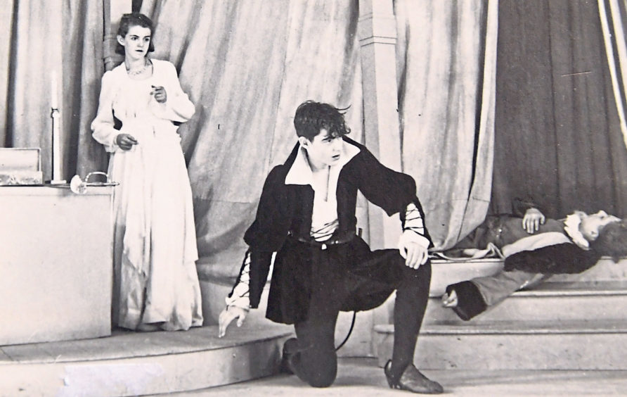 A school production of Hamlet from 1943