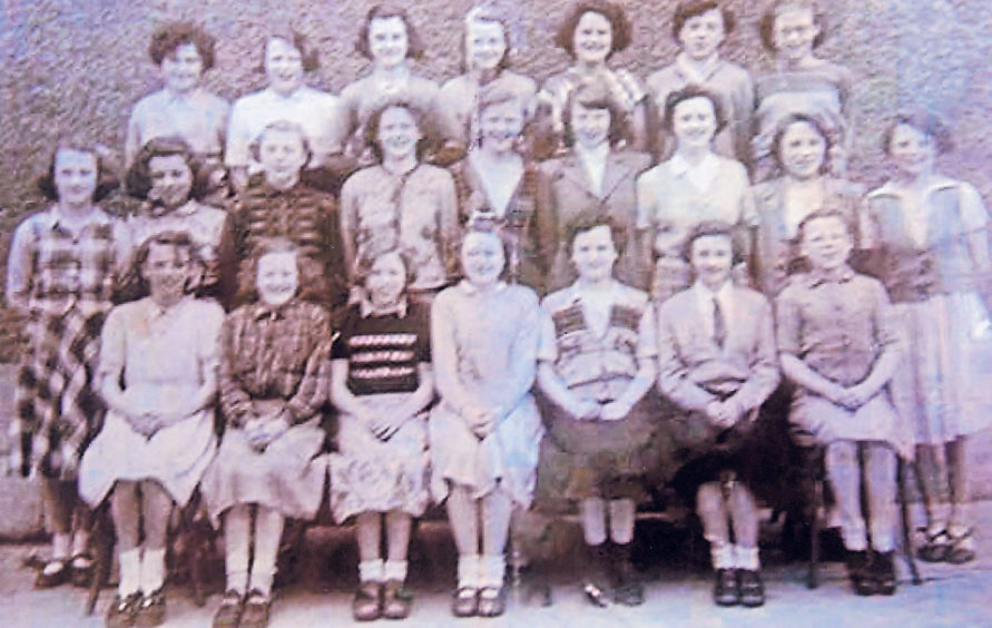 The girls of Torry Intermediate looking smart in 1953