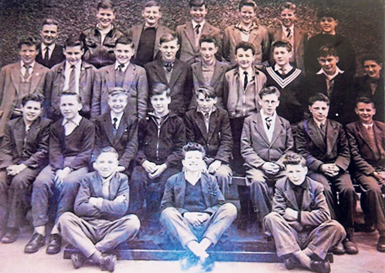 Secondary school pupils pictured in 1956