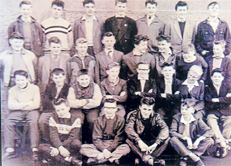 Some of the boys of Torry Secondary School pictured in 1959