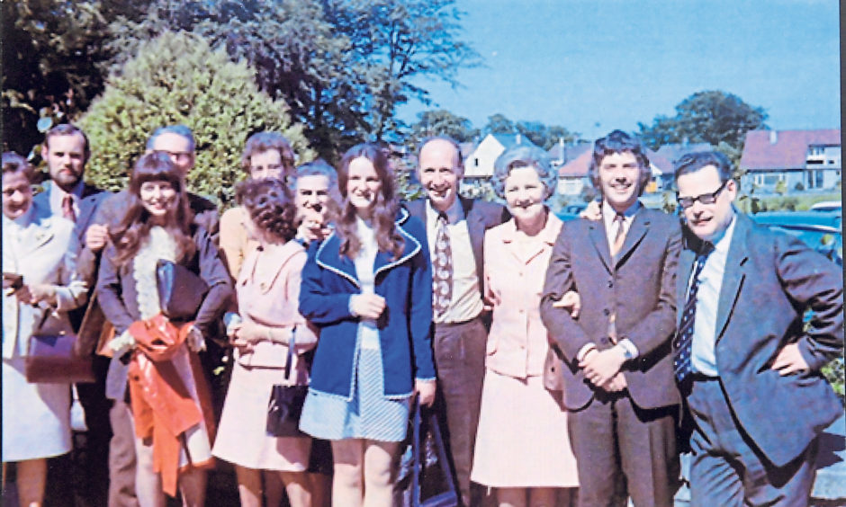 Torry Academy teachers look like they were set for an outing in 1972