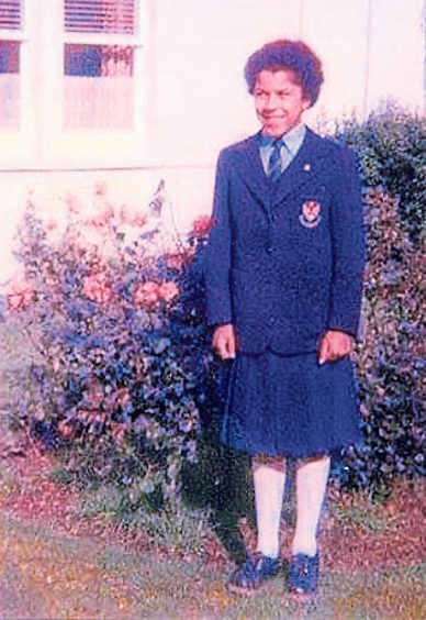 Jacqueline Begg on her first day at Torry Academy in 1976