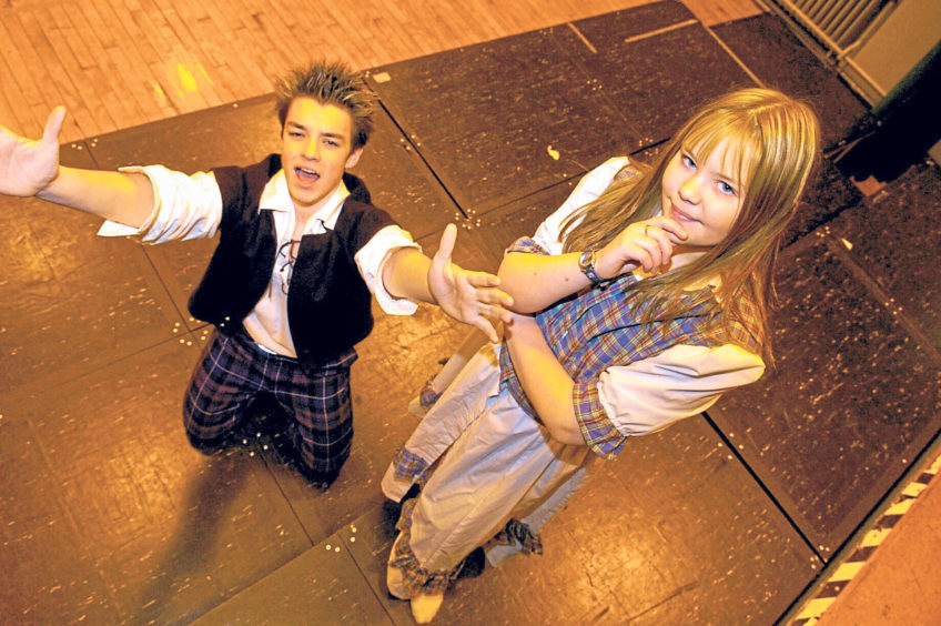 Liam Pirie and Laura Reid were taking part in the Global Rock Challenge in 2005