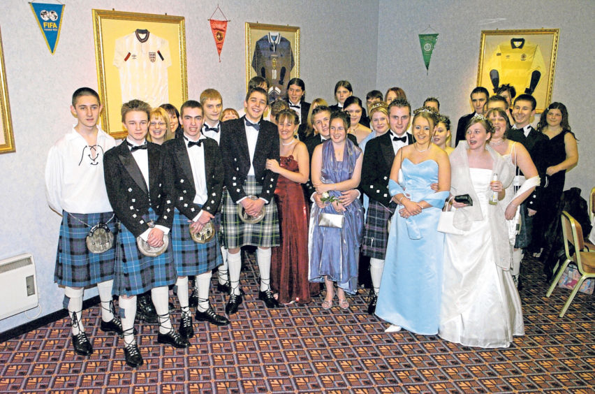 The Torry Academy Leaving Ball in 2004