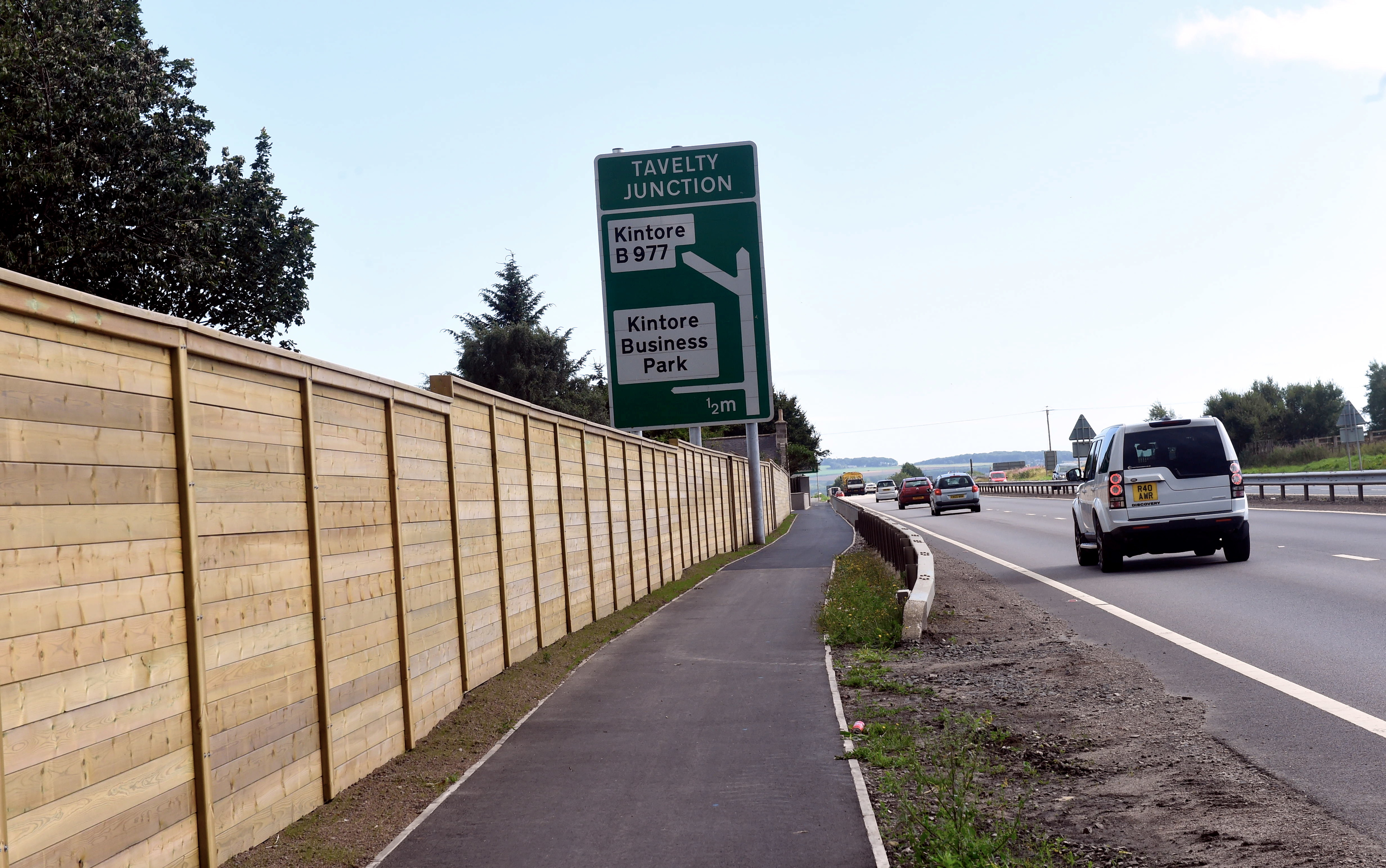 A section of cycle path near Inverurie