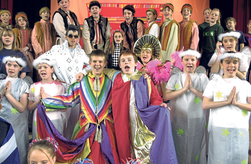 The cast of Joseph and the Amazing Technicolor Dreamcoat in 2003