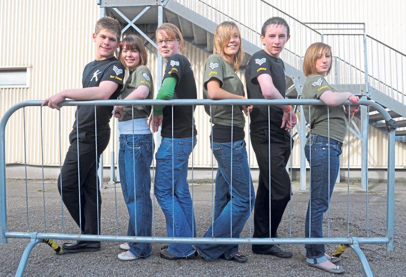 From left, Josh Cowe, Kerry Simpson, Cat Mckenzie, Lauren Brady, Dean Leith and Aurea Sim at the Global Rock Challenge 2008
