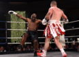 Lee McAllister (red/white shorts) v Danny Williams (black shorts)