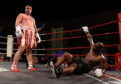 Lee McAllister knocking down Danny Williams  which caused the towel to be thrown in.
