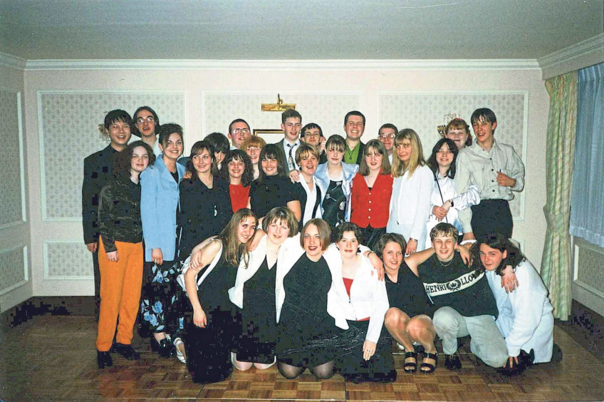 The Leavers' Ceilidh at the Altens Skean Dhu Hotel in April 1996