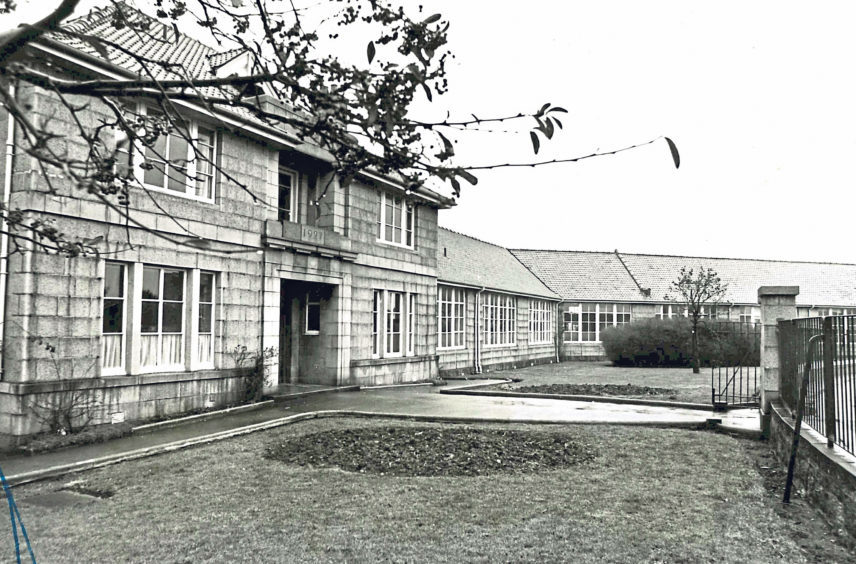 Torry Academy dates from 1927 when it opened with a roll of 305. When this picture was taken in 1976 pupil numbers stood at 960 and were expected to rise to 1,140 when the new extension was built
